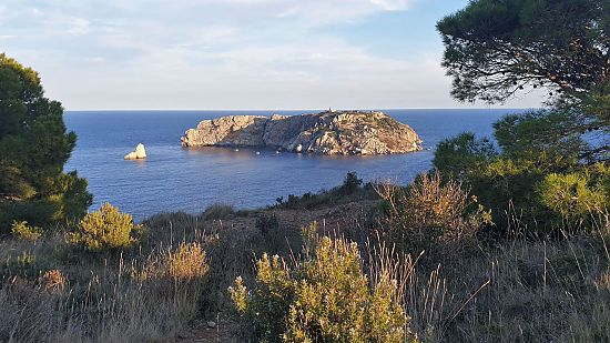 Medes Islands in the Estartit Natural Park in the center of Ampurdan-Costa Brava